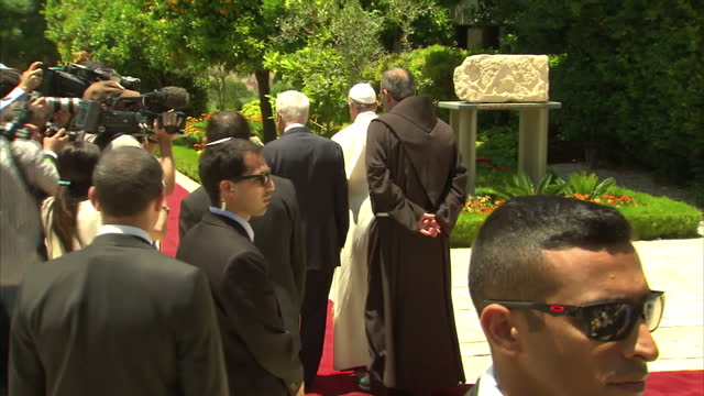 Pope Francis has called on Christians Jews and Muslims to 'work together for justice and peace' during a visit to the holiest sites in Jerusalem...