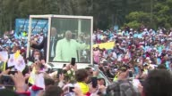 Pope Francis holds an open air mass for hundreds of thousands of worshippers in Colombia urging forgiveness as they seek a lasting end to half a...