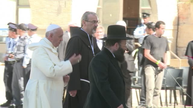Pope Francis on Monday prayed at the Western Wall in Jerusalem the holiest site for Jewish prayers after visiting the nearby Al Aqsa mosque