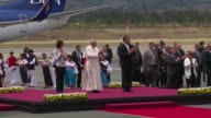 Pope Francis wrapped up his tour in Ecuador and took off for his visit in Bolivia