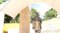 Pope John Paul II Statue in the Place Where He Offered the Mass About Family
