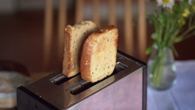 SLOW MOTION: Popping Toast