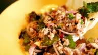 Schweinefleisch Salat Thai-Küche