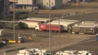 Port of Dover fears trade bottleneck after Brexit ENGLAND Kent Dover Ferries and traffic along at the Port of Dover Lorries queueing at the port View...