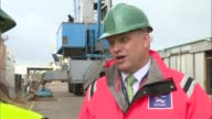 Port of Dover fears trade bottleneck after Brexit Waggott interview SOT View over the Port of Dover as lorries drive away Lorries along at port Lorry...