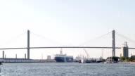 Hafen von Savannah, Georgia, USA