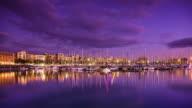 Port Vell, Barcelona Sunset - Time Lapse