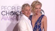 Portia de Rossi Ellen DeGeneres at People's Choice Awards 2015 in Los Angeles CA