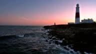 Portland Bill lighthouse at sunset