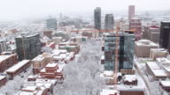 Portland, Oregon covered in snow