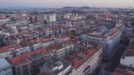 4K | Porto Portugal skyline at sunset from a vantage point situated at Trindade to overlook the city of Oporto.
