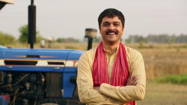 Portrait of a adult man smiling, Delhi, India