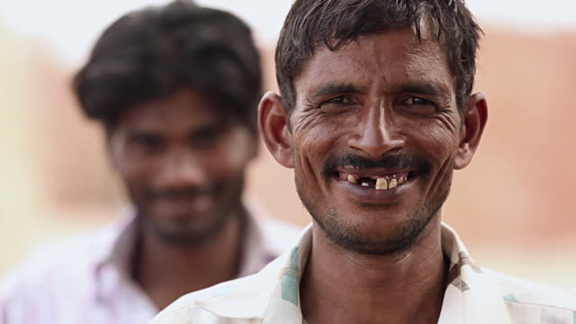 Portrait of a adult man smiling, Haryana, India