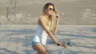 Portrait of a Beautiful Bike Girl (slow motion)