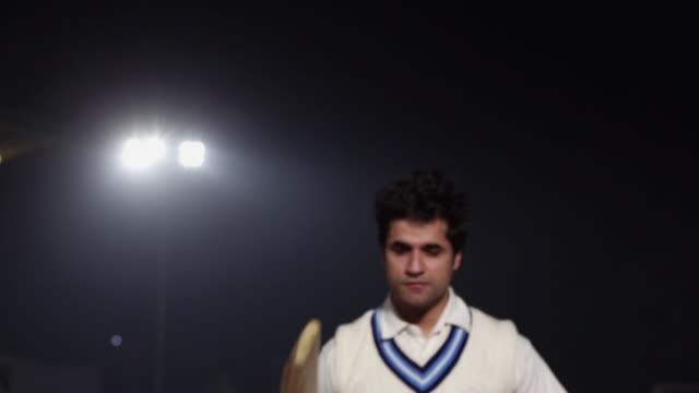 Portrait of a cricket player, Delhi, India