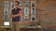 DS Portrait of a female African-American startup company employee