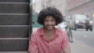 Portret van een knappe Man van de African American