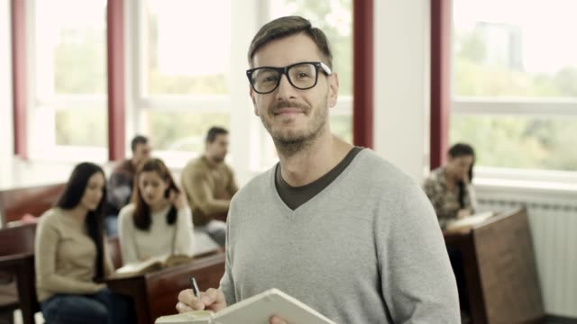 Portrait of a male student