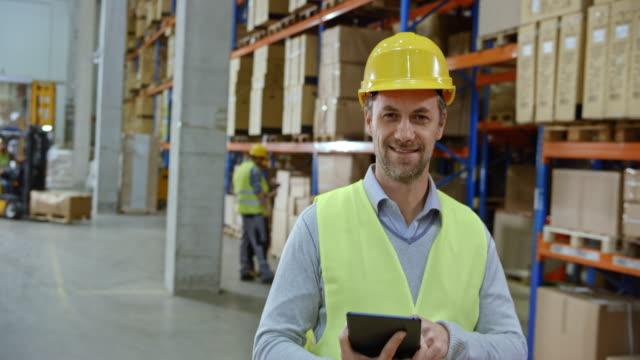 Portrait of a male warehouse supervisor