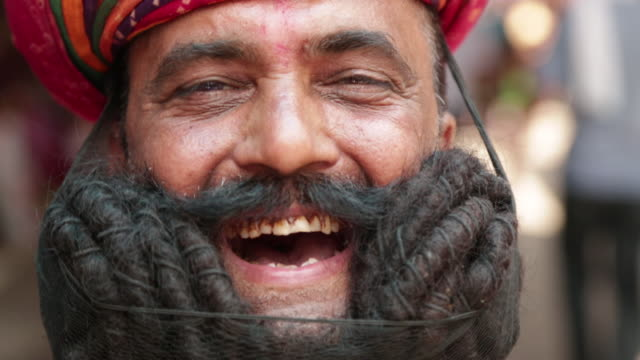 Portrait of a rajasthani man smiling, Rishikesh, Uttarakhand, India