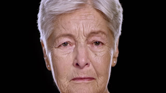 Portrait of a sad senior Caucasian woman