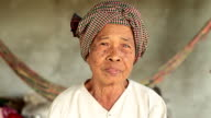 HD: Portrait of a senior Asian woman in Cambodia