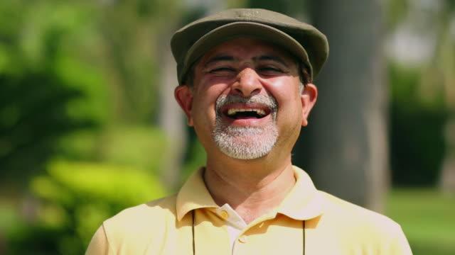 Portrait of a senior man smiling, Delhi, India