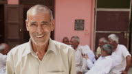 Portrait of a senior man smiling, Haryana, India