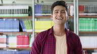Portrait of a university student smiling, Noida, Uttar Pradesh, India