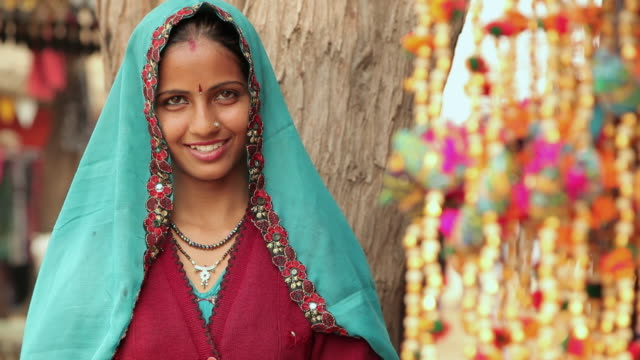 Portrait of a woman smiling, Suraj Kund, Faridabad, Haryana, India