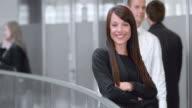 SLO MO Porträt einer jungen business-Frau