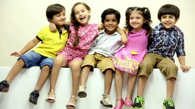 Portrait of boys and kids enjoying