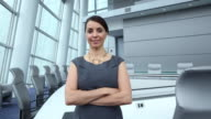 MS DS ZI ZO Portrait of Confident Businesswoman in Corporate Office / Virginia Beach, Virginia, United States