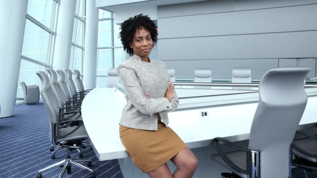 WS DS Portrait of Confident Businesswoman in Corporate Office / Virginia Beach, Virginia, United States
