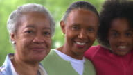 CU PAN Portrait of four generations female family members, Eastville, Virginia, USA