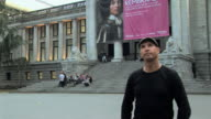 MS TD Portrait of man standing in front of Vancouver Art Gallery, Vancouver, British Columbia, Canada