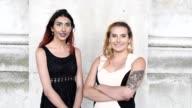 Portrait of two transgender females together