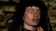 Ritratto di donna con un velo nero