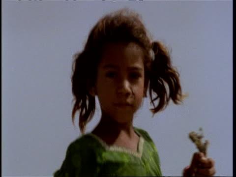 CU portrait of young Gujarat, Indian girl, Gujarat, India