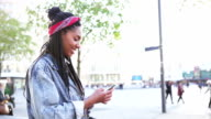 Portrait of young woman in Berlin - Alexanderplatz