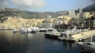 Ports de Monaco in Monte Carlo, Monaco, Europe. - 1920x1080