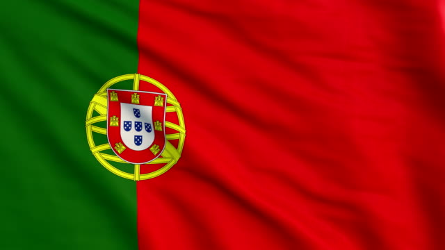 Portugal flag animation 4K