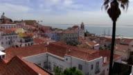 Portugal, Lisbon, Alfama neighborhood and Tago river