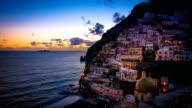 Positano Sunset Panoramic