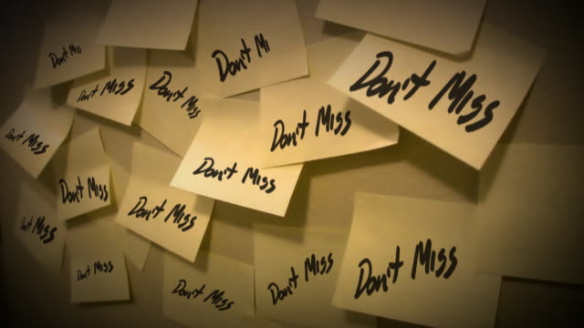 Post it note reminder Don't miss