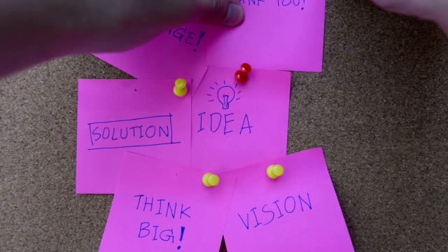 Post it with business word concept