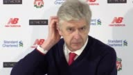 Post match press conference with Arsenal manager Arsene Wenger after their 31 loss against Liverpool