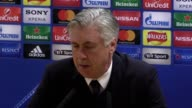 Post match press conference with Bayern Munich manager Carlo Ancelotti after his side's 15 win over Arsenal