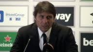 Post match press conference with Chelsea manager Antonio Conte after his team's 12 win over West Ham