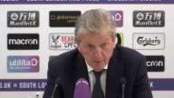 Post match press conference with Crystal Palace manager Roy Hodgson after his side lost 01 to Southampton
